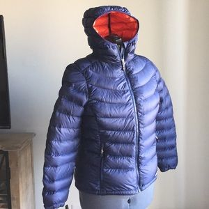 LL Bean 850 Down Fill Packable Jacket sz M PETITE